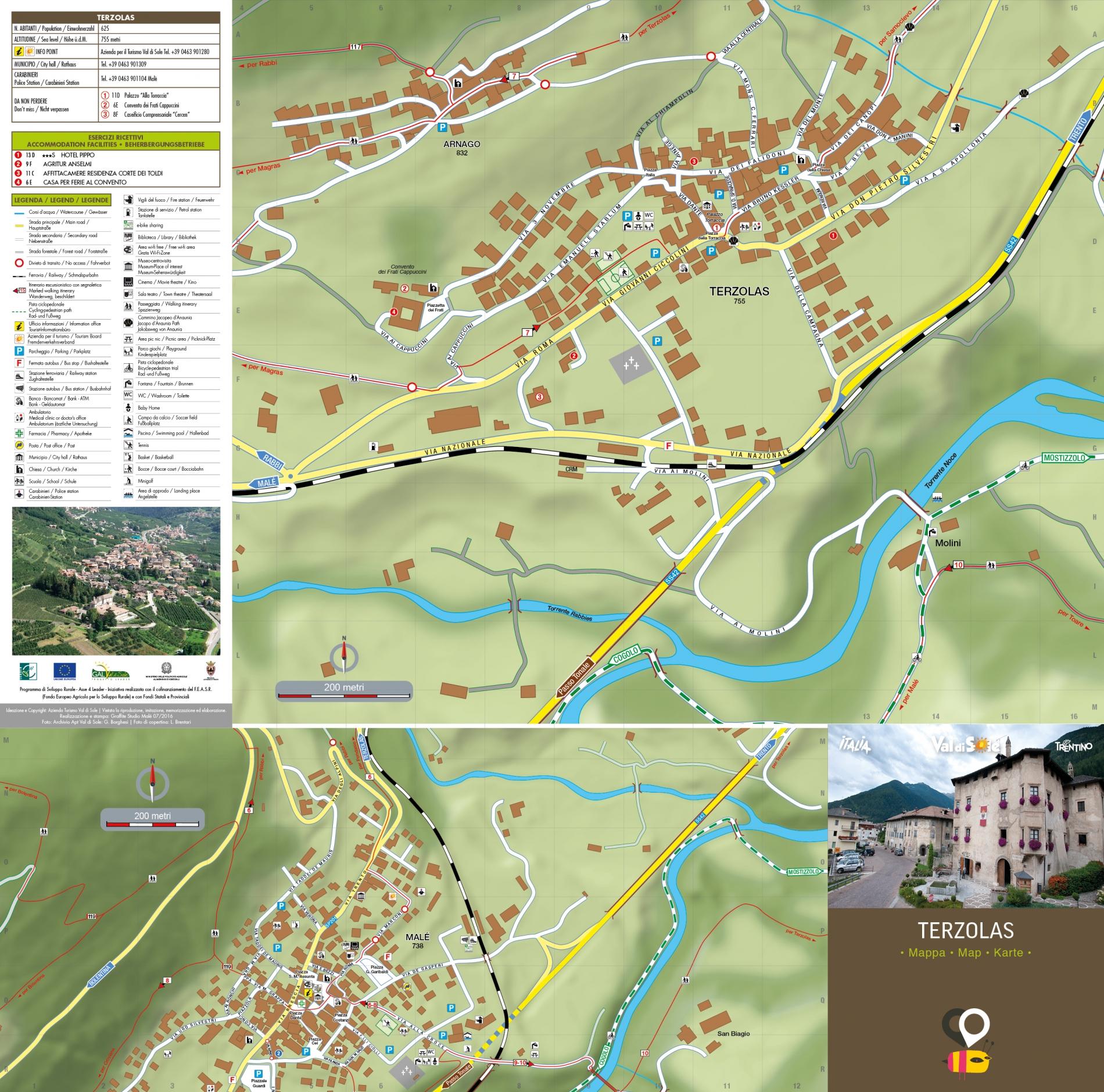 Mappa Terzolas e Malè